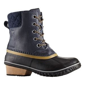 BNIB Sorel Women's Slimpack II Lace Duck Boot Navy